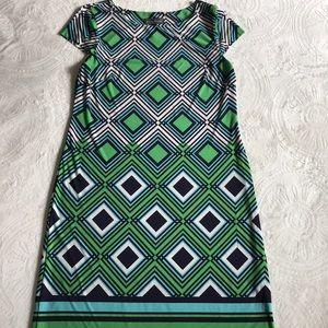 Jessica Howard bold printed dress size Medium